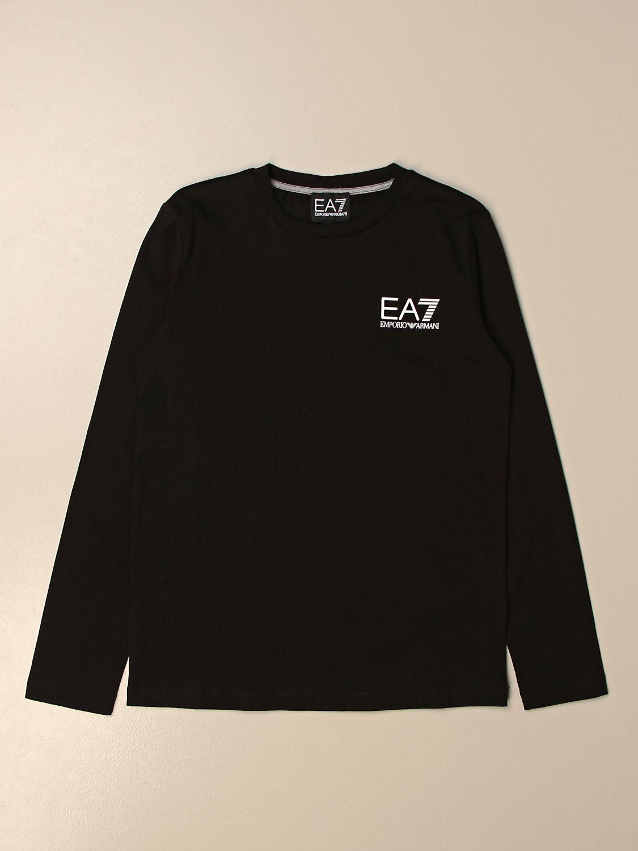 T-shirt Ea7: EA7 basic t-shirt with logo black 1