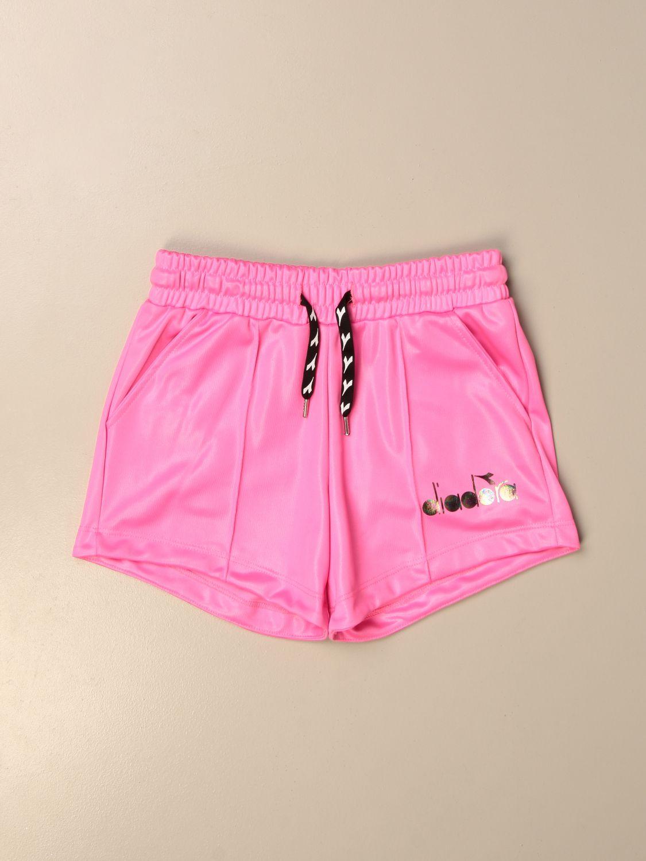 Pantalones cortos Diadora: Pantalones cortos niños Diadora fucsia 1