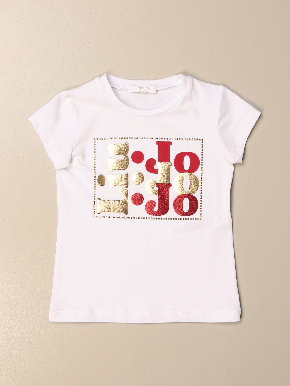 Camisetas Liu Jo: Camiseta niños Liu Jo blanco 1 1