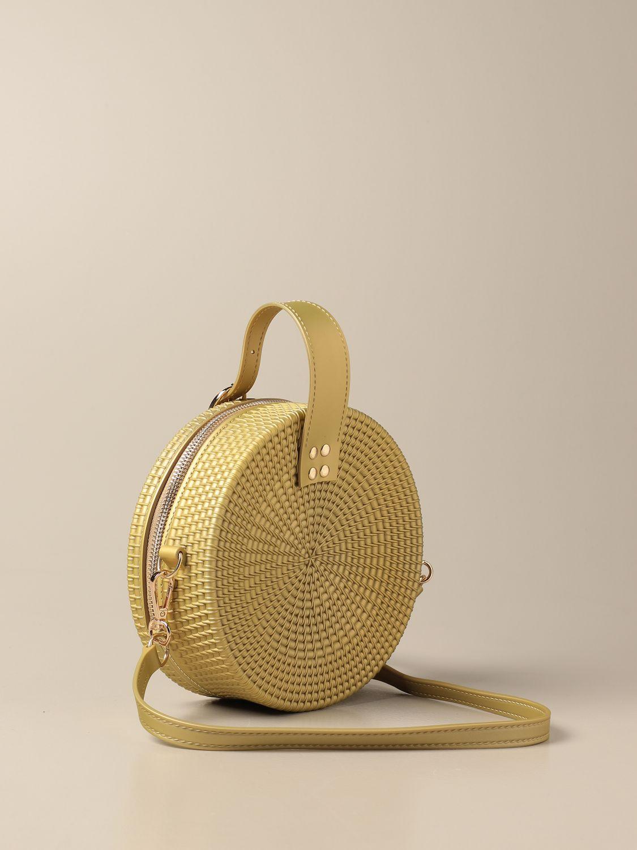 Bag Monnalisa: Monnalisa round bag in pvc beige 2