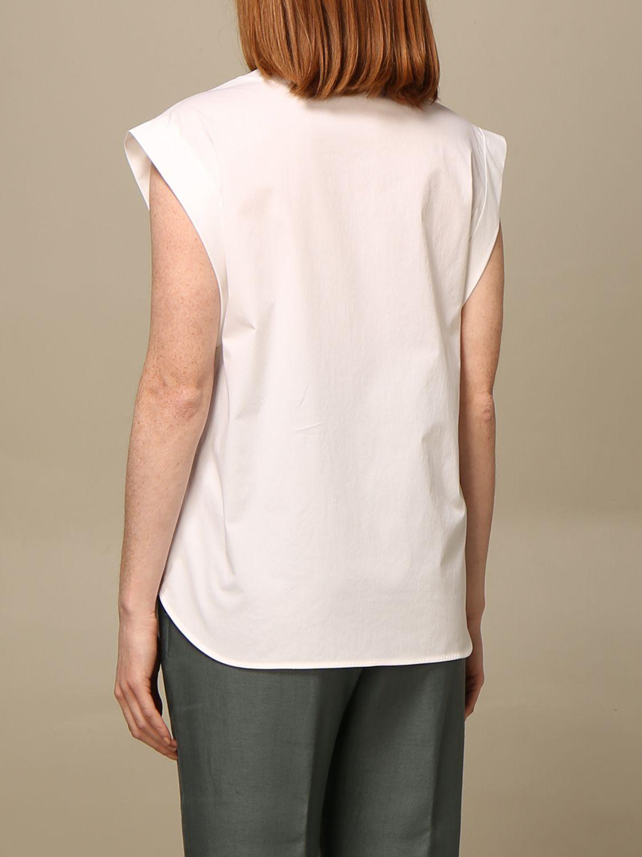 T-shirt Peserico: Camicia con zip Peserico in cotone bianco 2