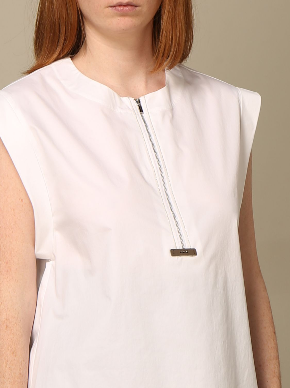 T-shirt Peserico: Camicia con zip Peserico in cotone bianco 3