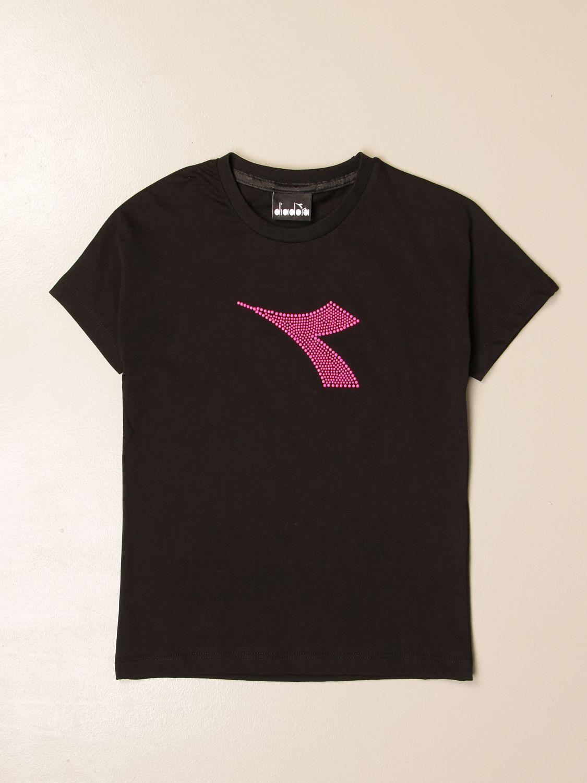 Camisetas Diadora: Camisetas niños Diadora blanco 1