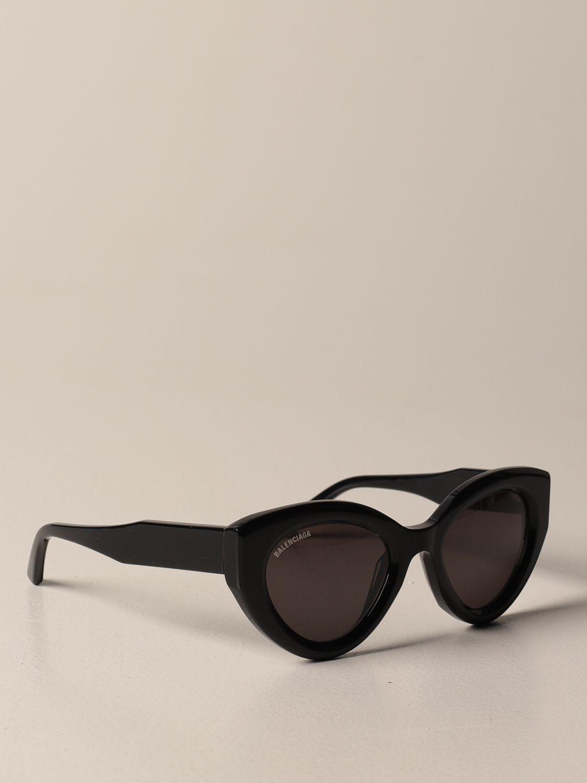Occhiali Balenciaga: Occhiali da sole Balenciaga in acetato con logo nero 1