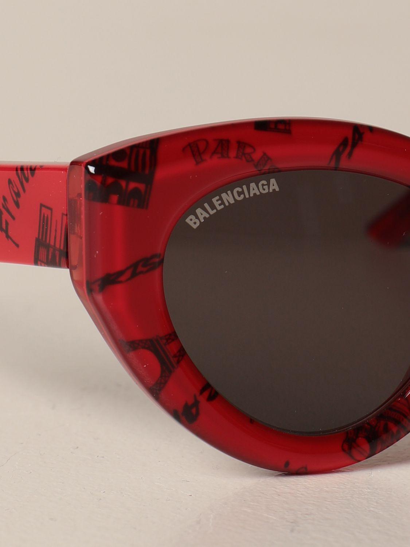 Солнцезащитные очки Balenciaga: Солнцезащитные очки Женское Balenciaga красный 4