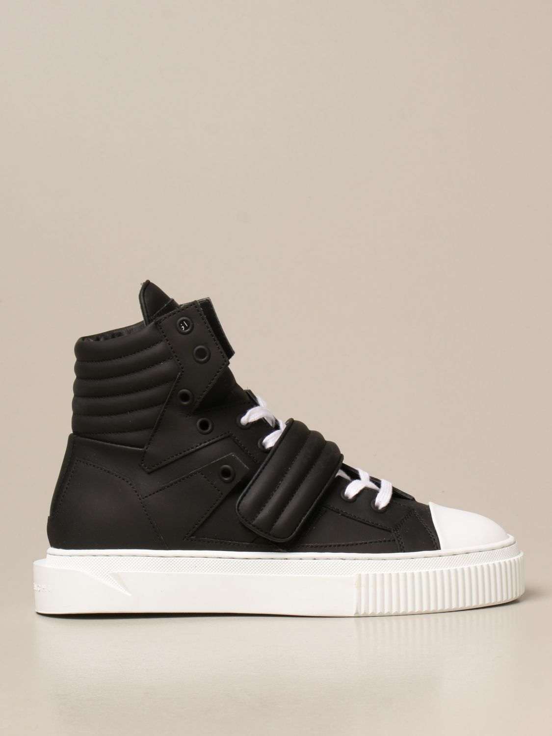 Sneakers Gienchi: Sneakers Hypnos Gienchi in pelle gommata nero 1
