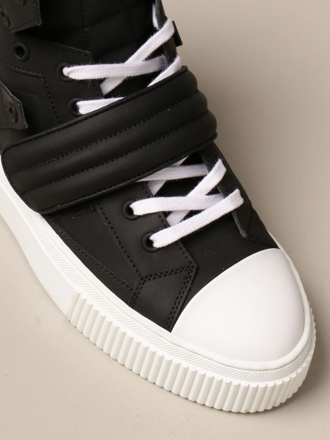 Sneakers Gienchi: Sneakers Hypnos Gienchi in pelle gommata nero 4