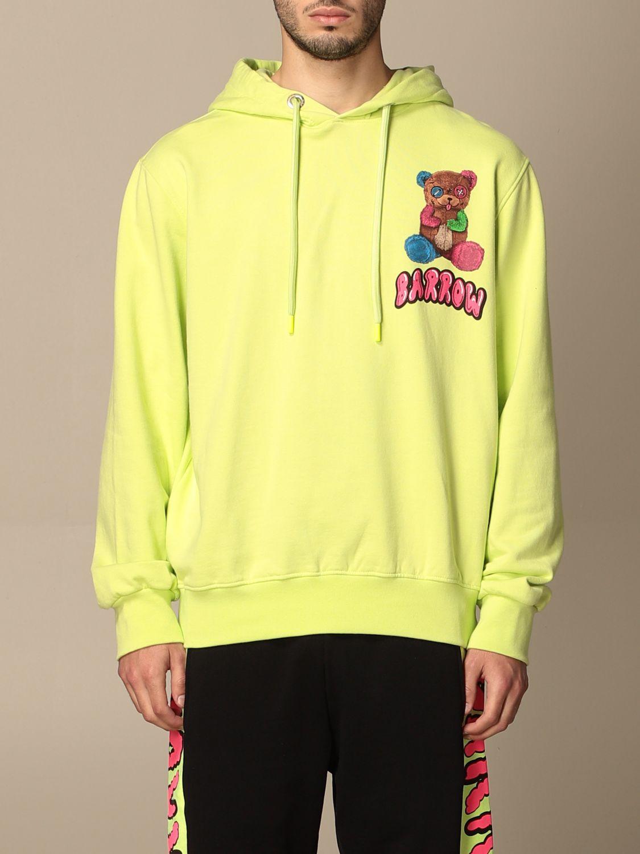 Sweatshirt Barrow: Over Barrow sweatshirt with big print yellow 1