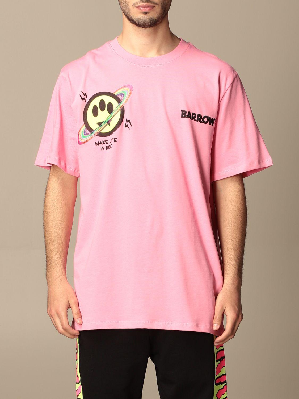 T-shirt Barrow: T-shirt homme Barrow rose 1