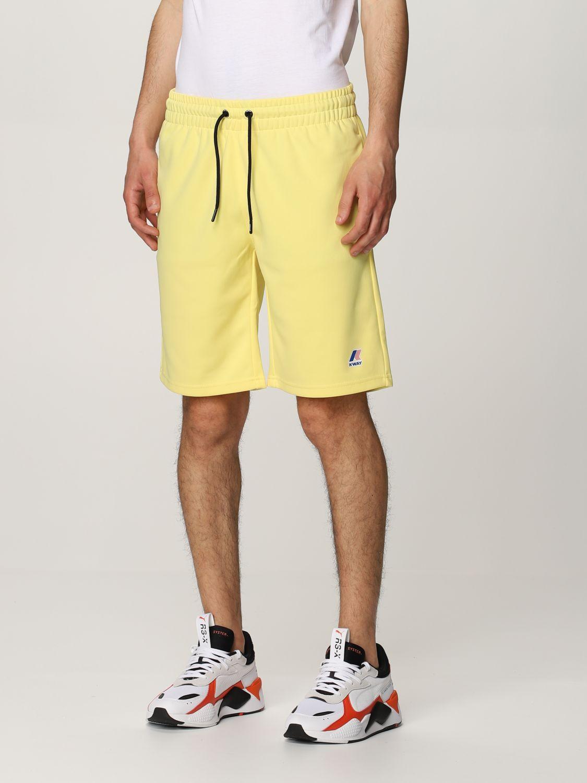 Pantalones cortos K-Way: Pantalones cortos hombre K-way amarillo 3