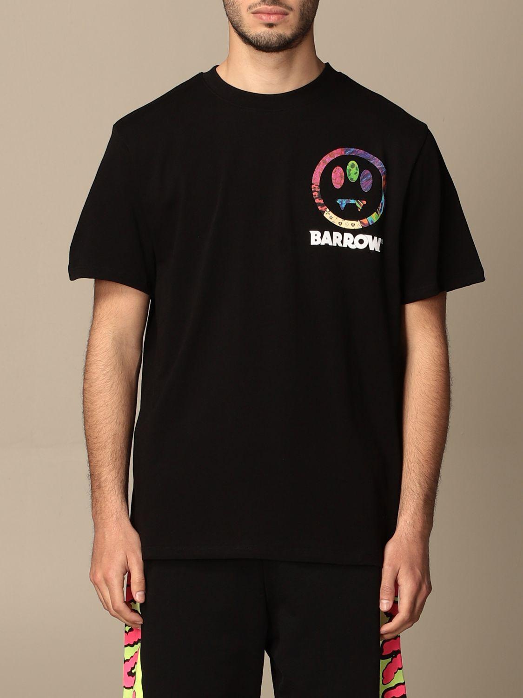 T-shirt Barrow: T-shirt Barrow in cotone con big stampa posteriore nero 1