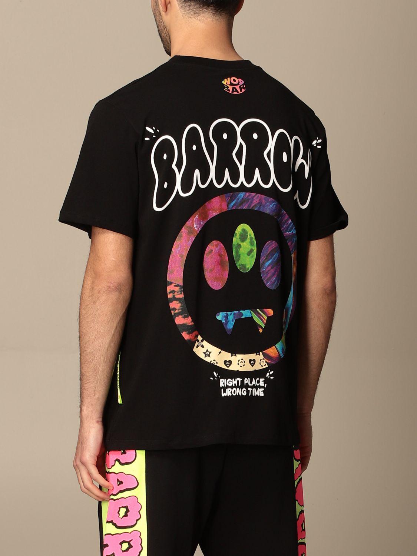 T-shirt Barrow: T-shirt Barrow in cotone con big stampa posteriore nero 2