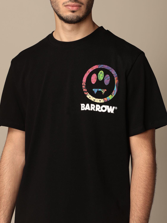 T-shirt Barrow: T-shirt Barrow in cotone con big stampa posteriore nero 3