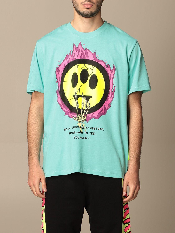 T-shirt Barrow: Barrow cotton T-shirt with big print green 1