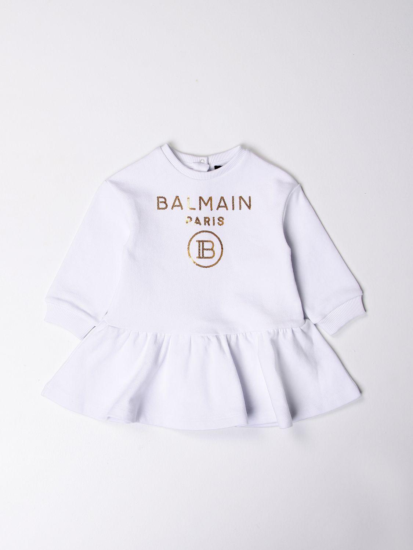 Romper Balmain: Balmain dress with logo white 1