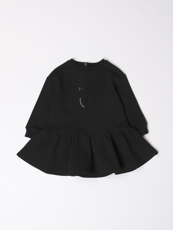 Romper Balmain: Balmain dress with logo black 1