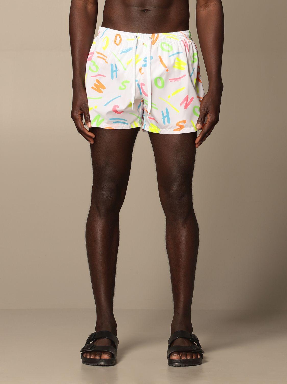 Swimsuit Boutique Moschino: Moschino Boutique printed boxer costume white 1