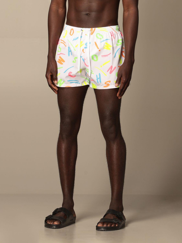 Swimsuit Boutique Moschino: Moschino Boutique printed boxer costume white 3