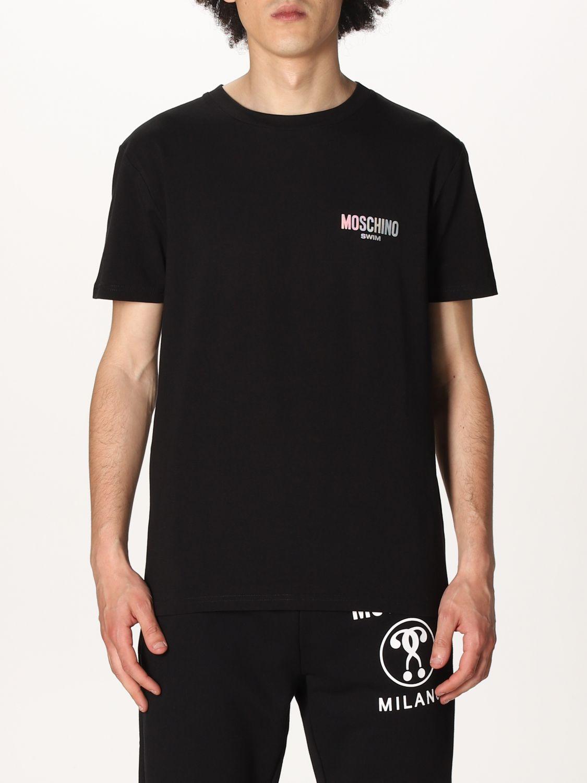 T-shirt Boutique Moschino: T-shirt Boutique Moschino con logo nero 1