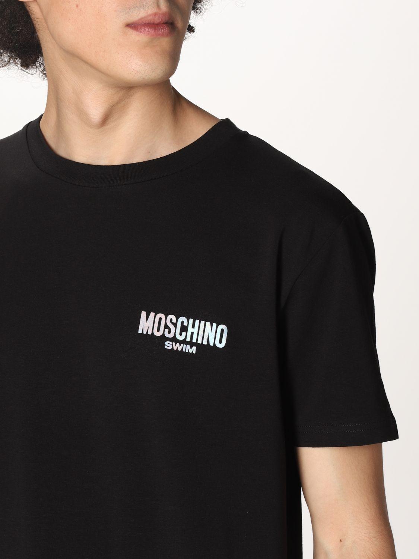 T-shirt Boutique Moschino: T-shirt Boutique Moschino con logo nero 3