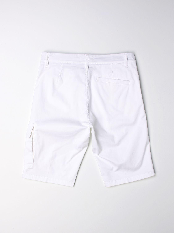 Pantaloncino Stone Island Junior: Pantaloncino Stone Island Junior con logo bianco 2