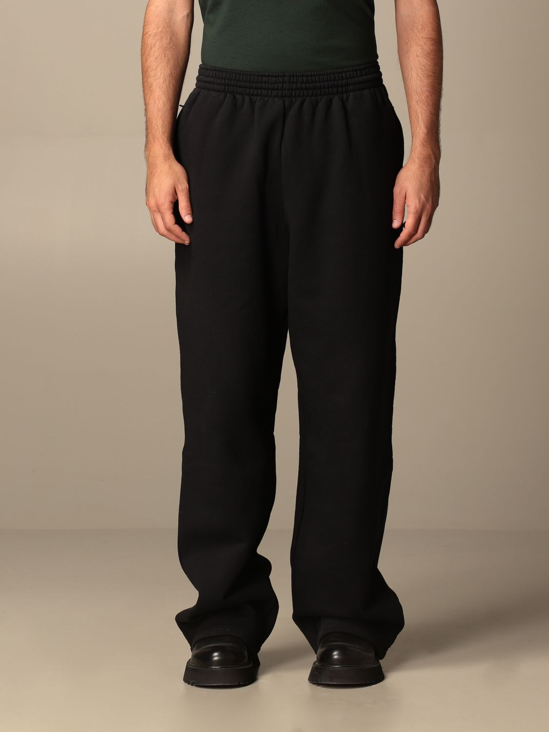 Trousers Balenciaga: Balenciaga cotton jogging pants black 1
