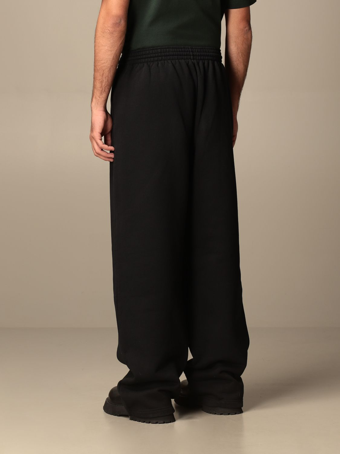 Trousers Balenciaga: Balenciaga cotton jogging pants black 3