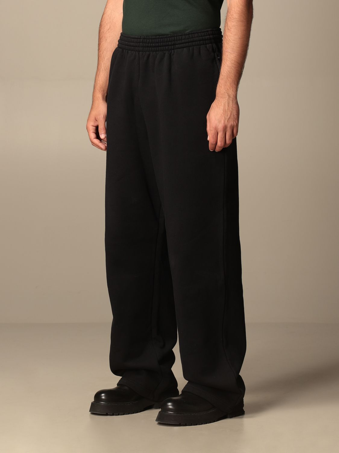 Trousers Balenciaga: Balenciaga cotton jogging pants black 4
