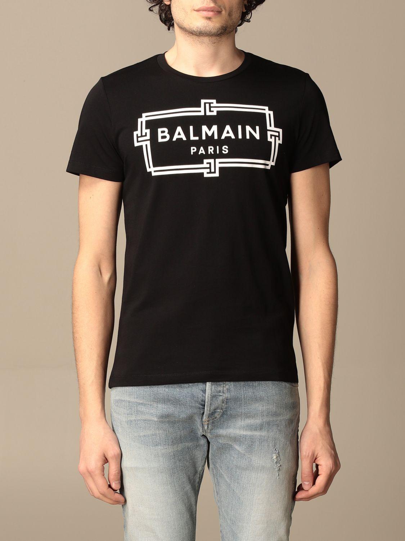 T-shirt Balmain: T-shirt homme Balmain noir 1