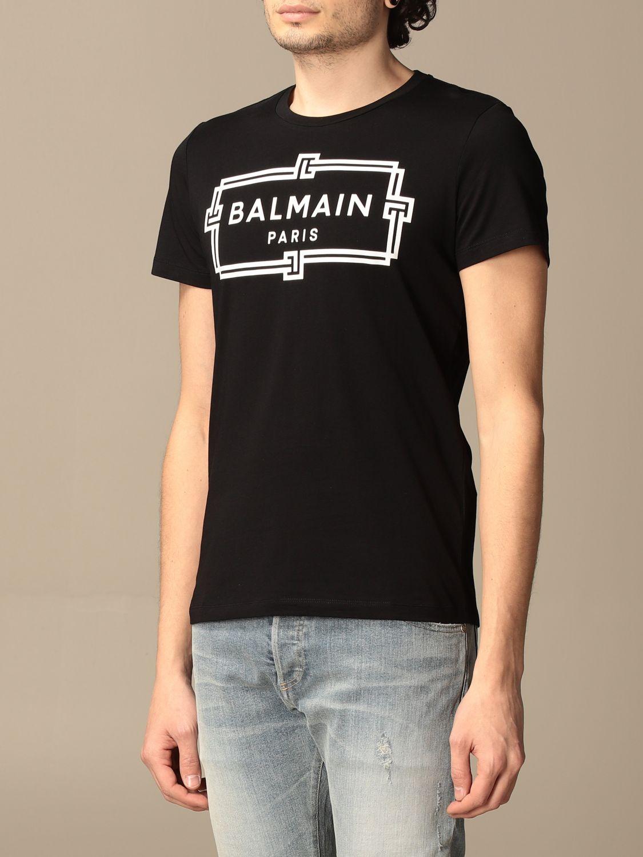 T-shirt Balmain: T-shirt homme Balmain noir 3