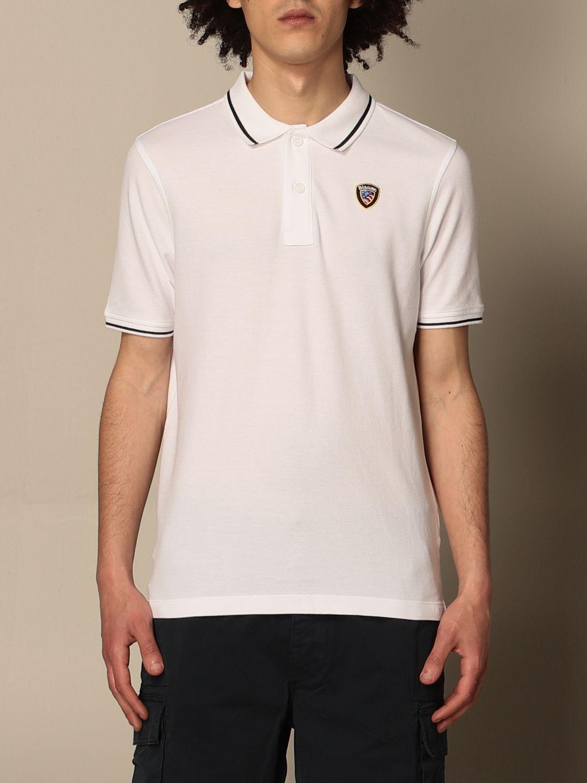 Polo shirt Blauer: Blauer cotton polo shirt with logo white 1