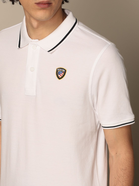 Polo shirt Blauer: Blauer cotton polo shirt with logo white 3