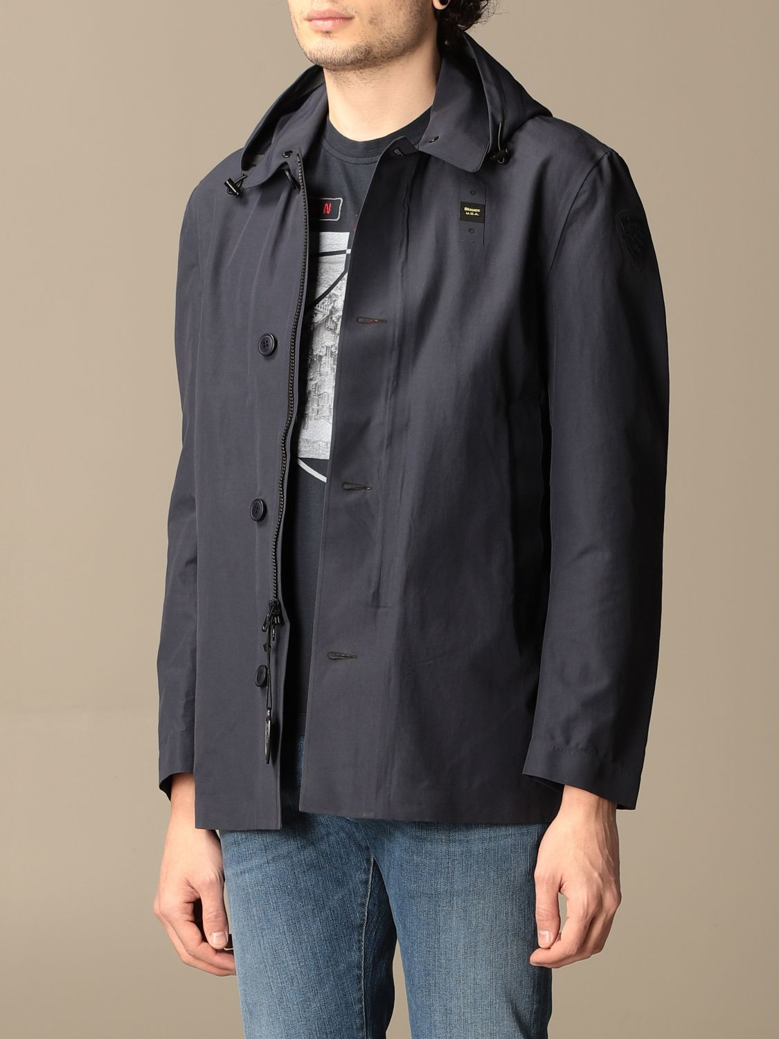 Trench coat Blauer: Trench coat men Blauer sapphire 3