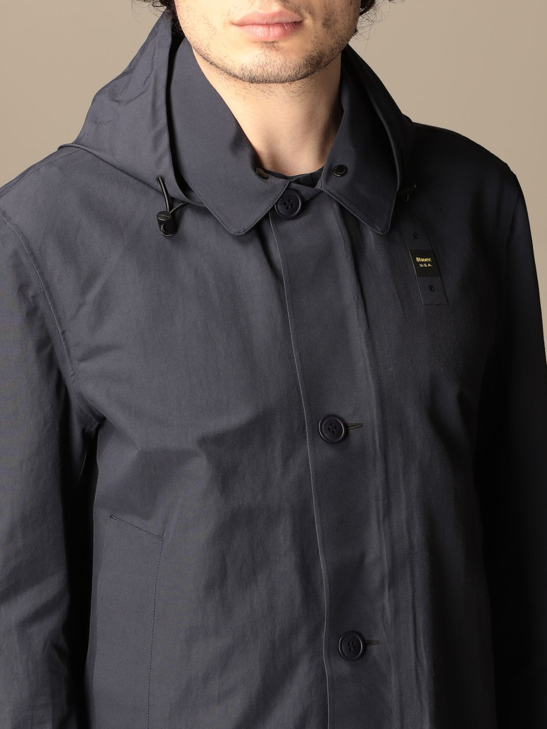 Trench coat Blauer: Trench coat men Blauer sapphire 4