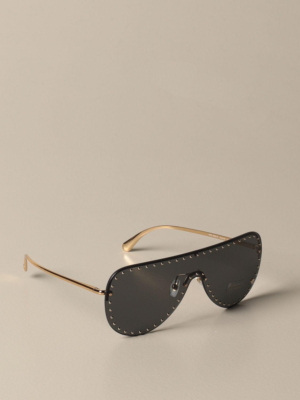 Glasses Versace: Versace sunglasses in metal with micro studs black 1