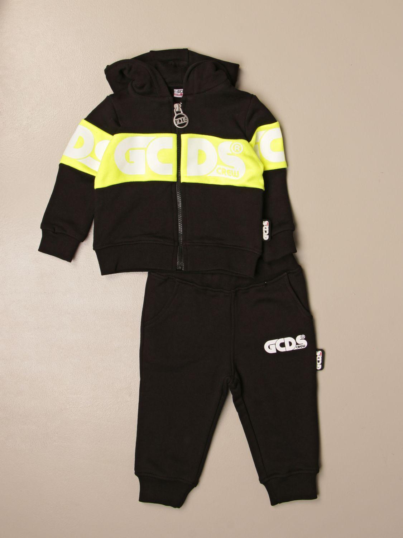 Jumpsuit Gcds: Gcds sweatshirt + jogging pants set with logo black 1