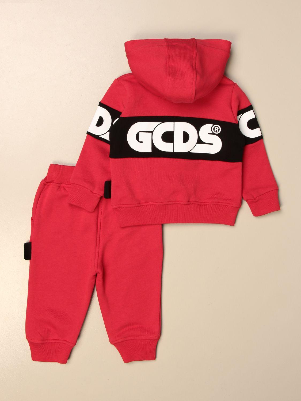 Jumpsuit Gcds: Gcds sweatshirt + jogging pants set with logo red 2