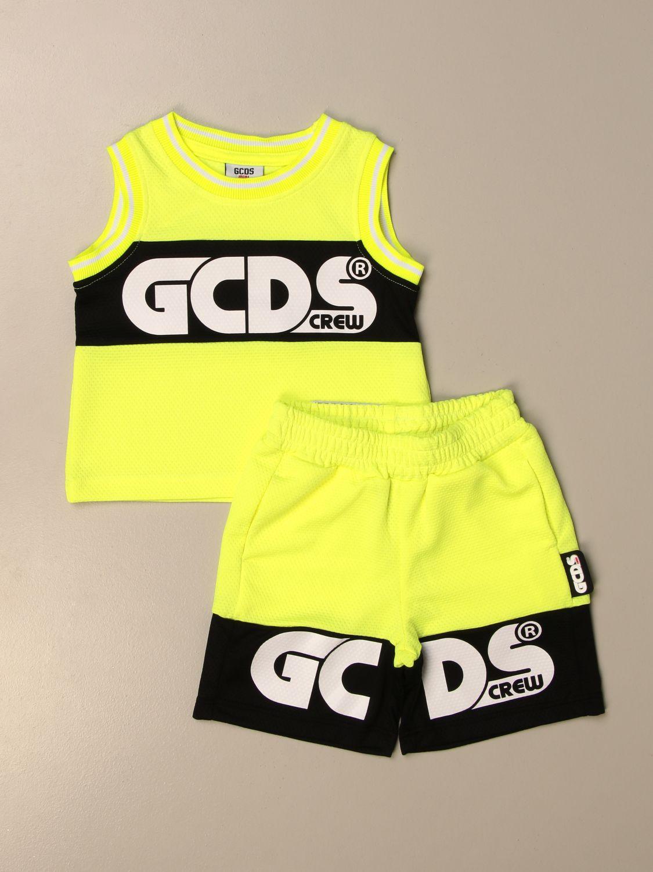 Jumpsuit Gcds: Gcds top + bermuda jogging set yellow 1