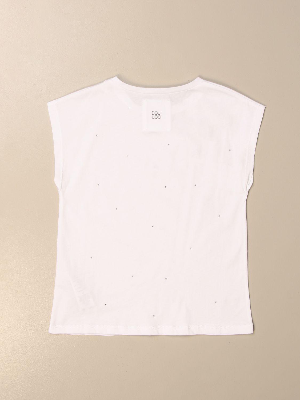 VEST Douuod: Basic Douuod T-shirt with micro rhinestones white 2