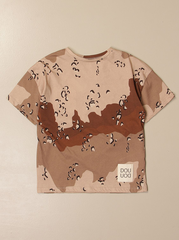 T-shirt Douuod: T-shirt Douuod in cotone stampato con logo cammello 1