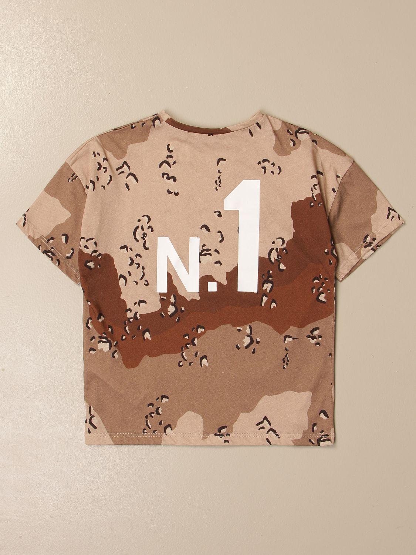 T-shirt Douuod: T-shirt Douuod in cotone stampato con logo cammello 2