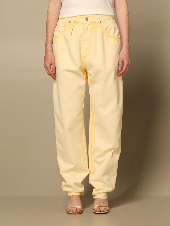Jeans Alberta Ferretti: Pantalon femme Alberta Ferretti jaune 1