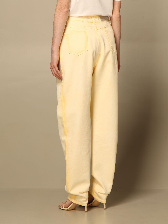 Jeans Alberta Ferretti: Pantalon femme Alberta Ferretti jaune 3