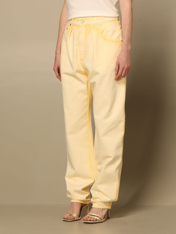 Jeans Alberta Ferretti: Pantalon femme Alberta Ferretti jaune 4