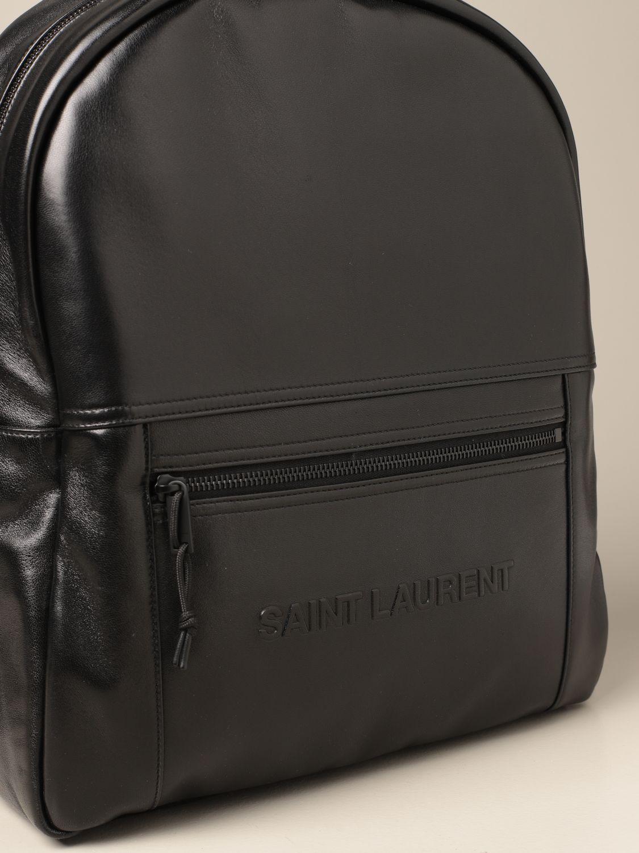 Zaino Saint Laurent: Zaino Nuxx Saint Laurent in pelle con logo nero 4