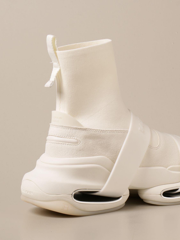 Sneakers Balmain: Sneakers B-Bold Balmain in maglia e camoscio con logo bianco 3