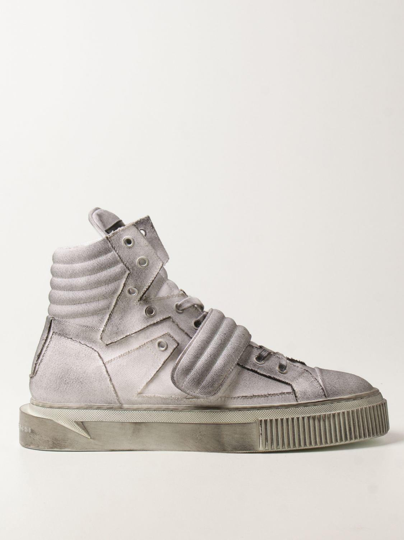 Sneakers Gienchi: Sneakers Hypnos Gienchi in tela con effetto spruzzato grigio 1