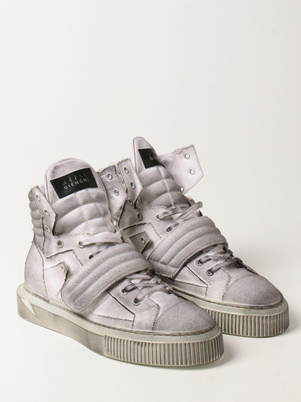 Sneakers Gienchi: Sneakers Hypnos Gienchi in tela con effetto spruzzato grigio 2