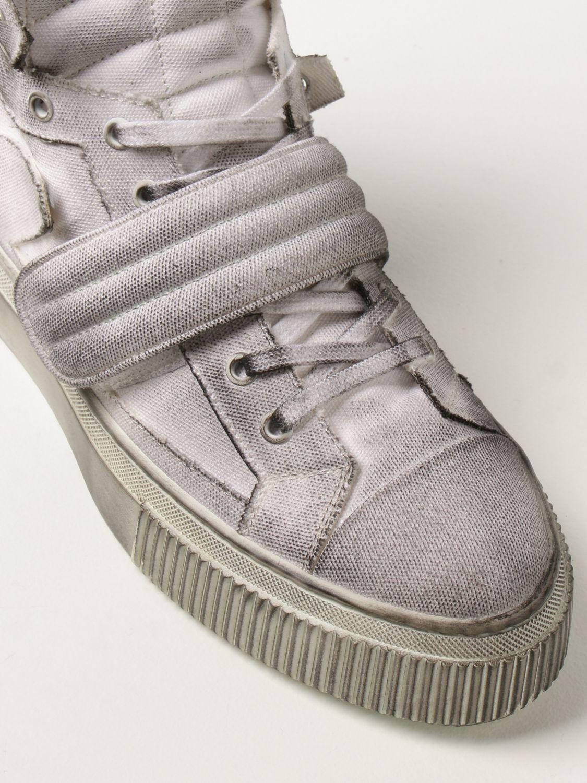 Sneakers Gienchi: Sneakers Hypnos Gienchi in tela con effetto spruzzato grigio 4