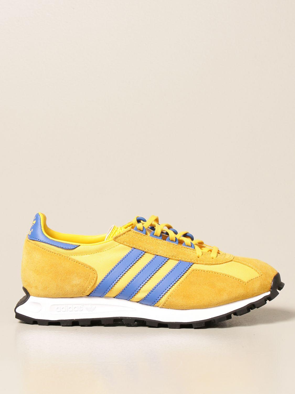 Sneakers Adidas Originals: Sneakers Racing 1 Adidas Originals in pelle e suede oro 1